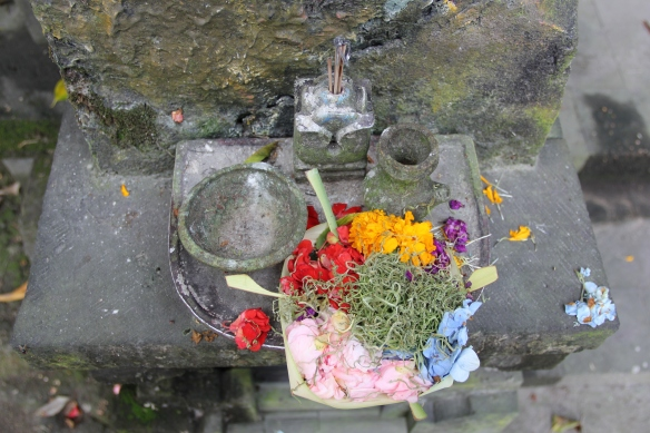 Balinese offerings to appease evil spirits