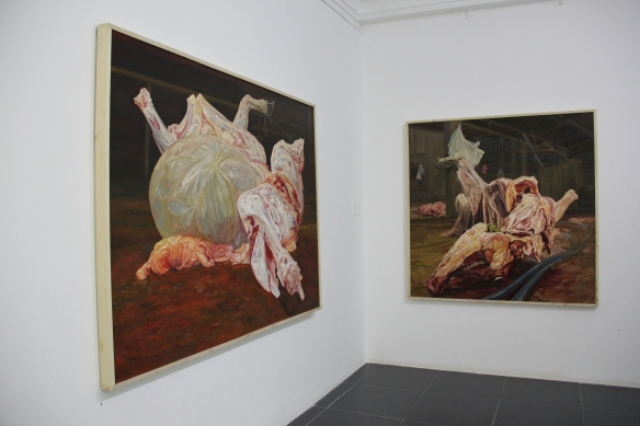 Works by Nguyen Van Du at San Art's  'Mind, Flesh, Matter' exhibition.