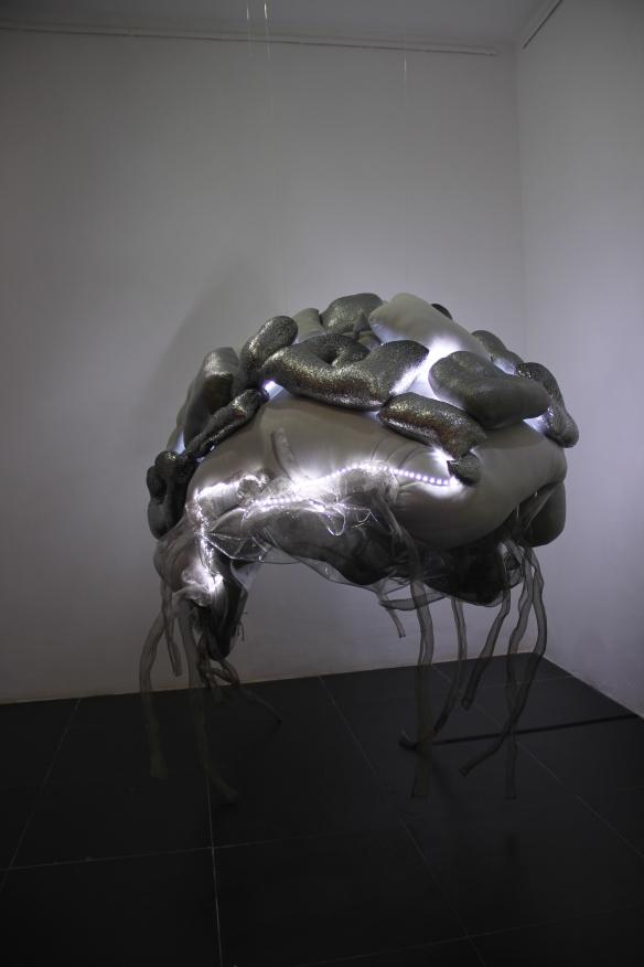 Lai Dieu Ha's exhibited work at the San Art exhibition 'Mind, Flesh, Matter'.