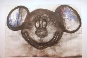 Joyce Pensato Mickey For Micky 2014