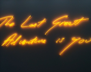 Tracey Emin's The Last Great Adventure Is You opening night at White Cube.